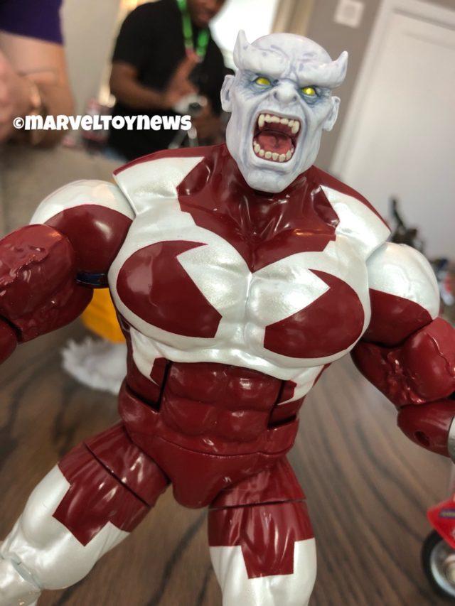 Close-Up of Marvel Legends Caliban Build-A-Figure NYCC