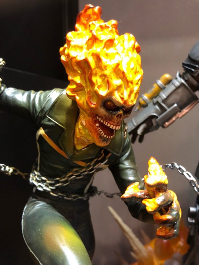 Marvel Milestones Ghost Rider Statue Close-Up