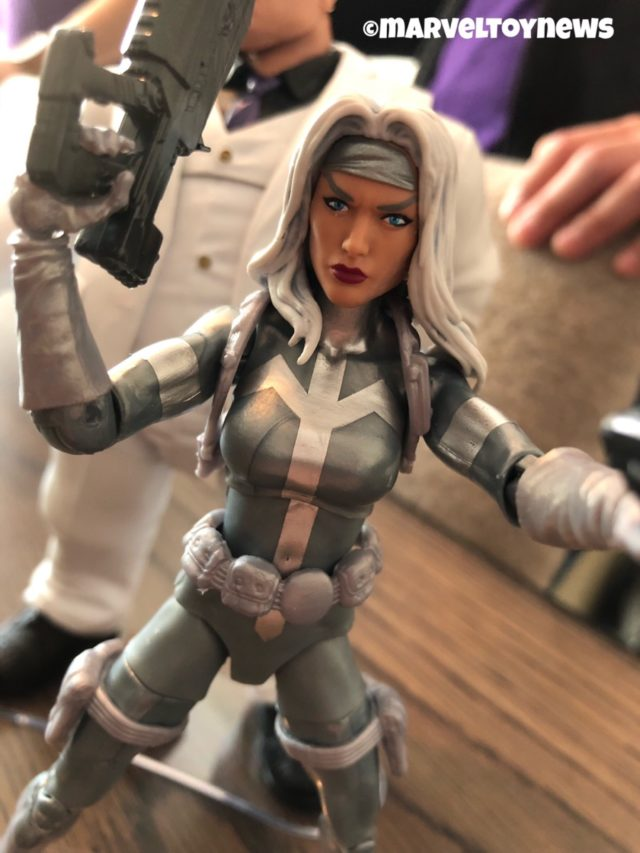 Marvel Legends Kingpin Series Silver Sable Figure Close-Up