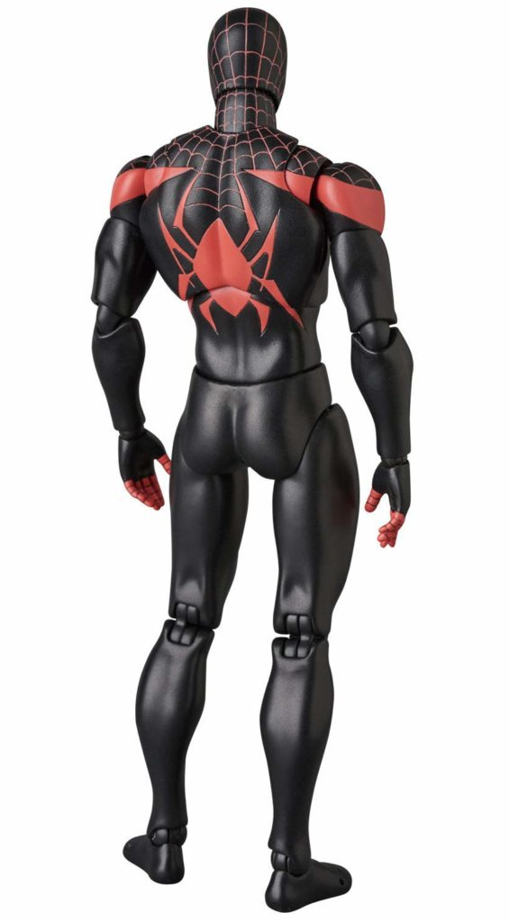 Back of MAFEX Miles Morales Spider-Man Action Figure