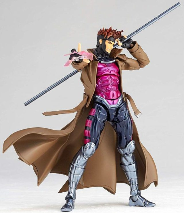 Gambit Action Figure Kaiyodo Revoltech 2019 With Angry Face
