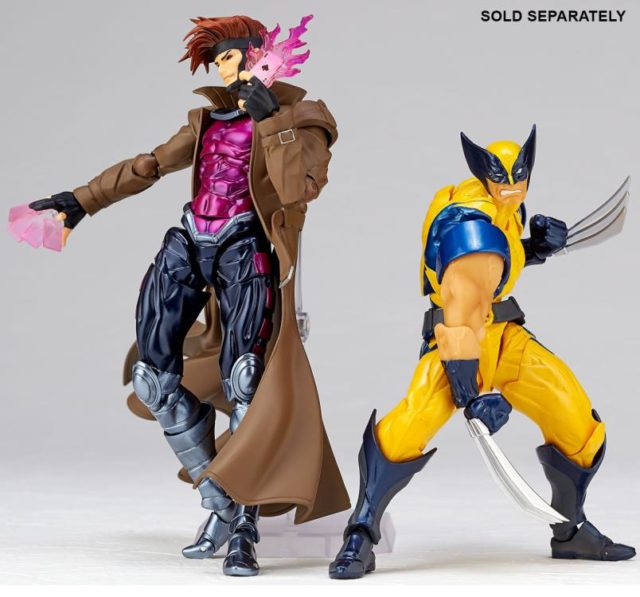 Kaiyodo Revoltech X-Men Gambit and Wolverine Figures Together