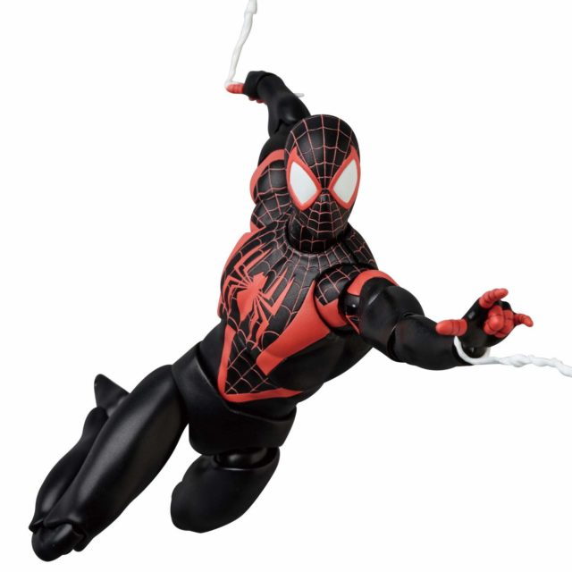 MAFEX Marvel Miles Morales Figure Swinging
