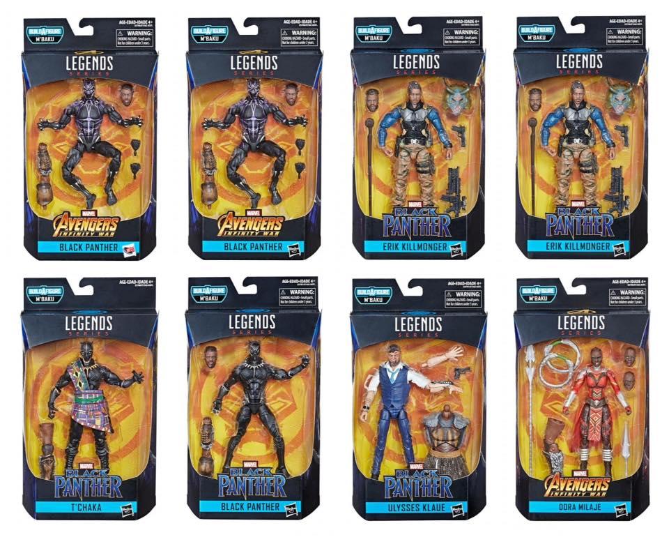 Marvel Legends Black Panther Wave 2 M'Baku BAF Series T'Chaka FIGURE Figurki z kreskówek Zabawki
