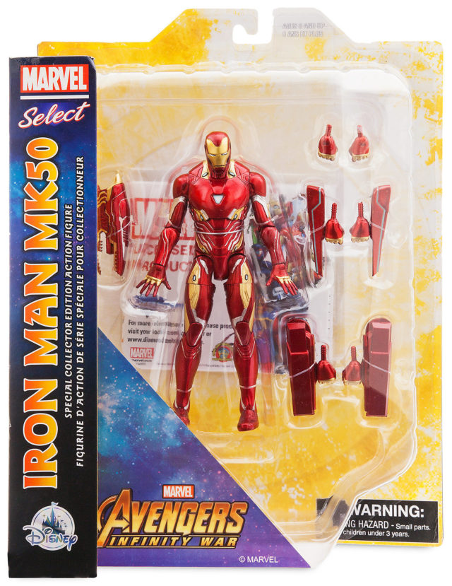 Marvel Select Infinity War Iron Man Mark 50 Packaged