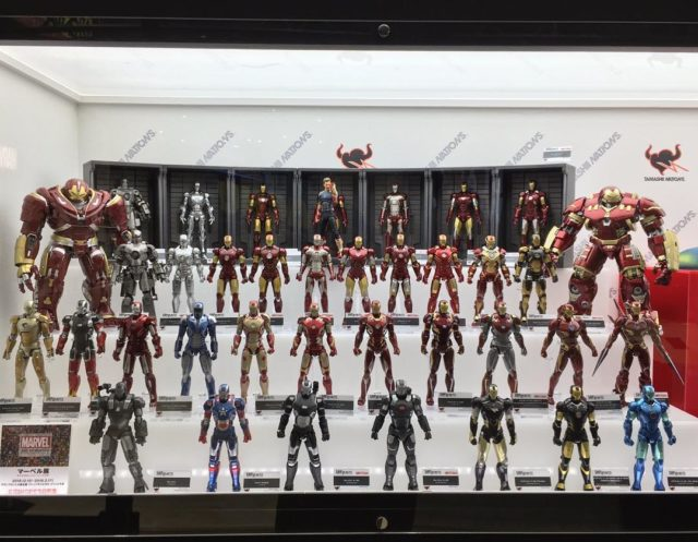 SH Figuarts Iron Man Hall of Armor Display Tokyo Comic Con 2018