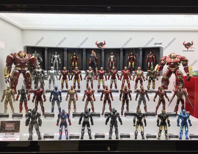 SH Figuarts Iron Man Hall of Armor Display Tokyo Comic Con 2018