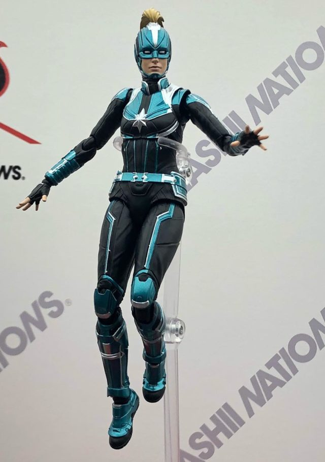 SH Figuarts Star Force Captain Marvel Green Costume Figure