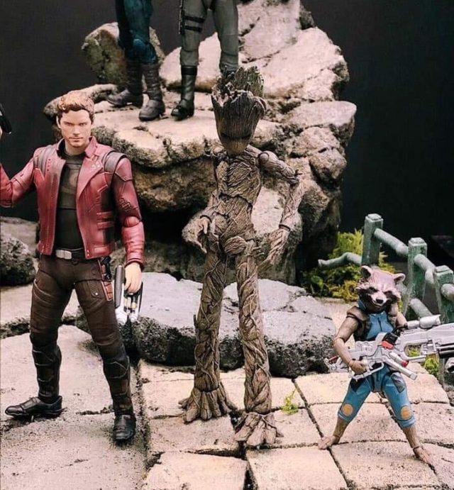 SH Figuarts Teen Groot Figure Infinity War Guardians of the Galaxy