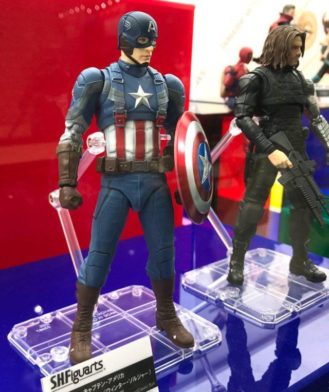 SH Figuarts The Winter Soldier Movie Figures Tokyo Comic Con