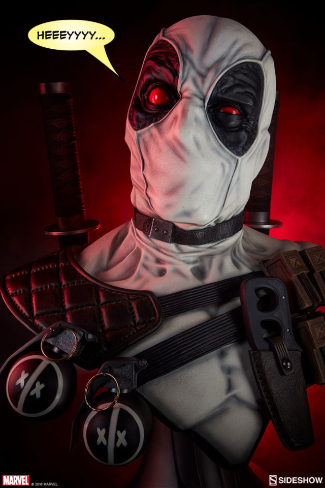 Sideshow X-Force Deadpool Life Size Bust Pre-Order