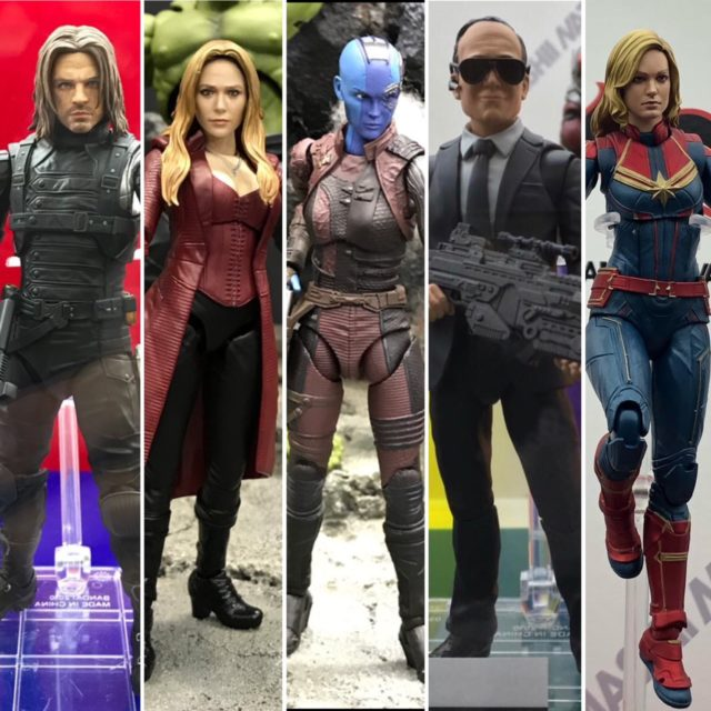 Tokyo Comic Con 2018 Marvel SH Figuarts Figures Loki Nebula Captain Marvel