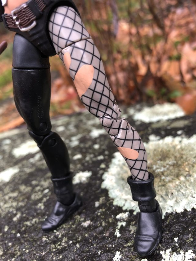 """Close-Up of Fishnet Stockings on Typhoid Mary Legends 6"""" Figure"""