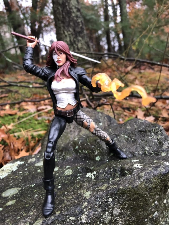 Fire Effects Piece on Typhoid Mary Venom Legends Figure's Hand