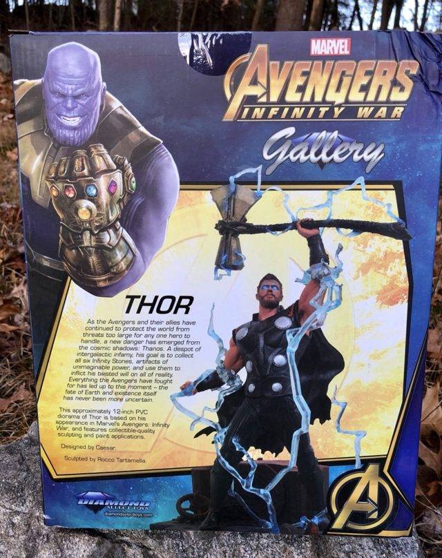 Back of Marvel Gallery Infinity War Thor Box