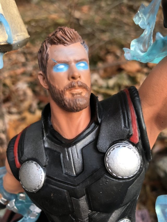 Close-Up of Face on Infinity War Thor Gallery Statue