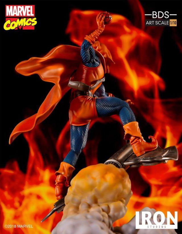 Back of Hobgoblin Iron Studios Statue Battle Diorama Series