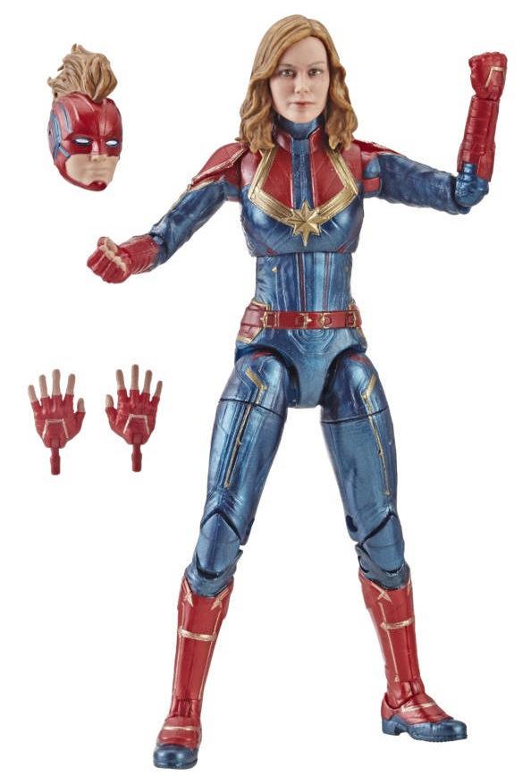Captain Marvel Marvel Legends Movie Figure with Masked Mohawk Head