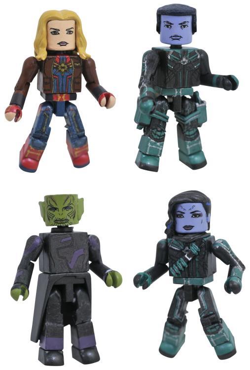 Captain Marvel Minimates Box Set Movie Figures 4-Pack