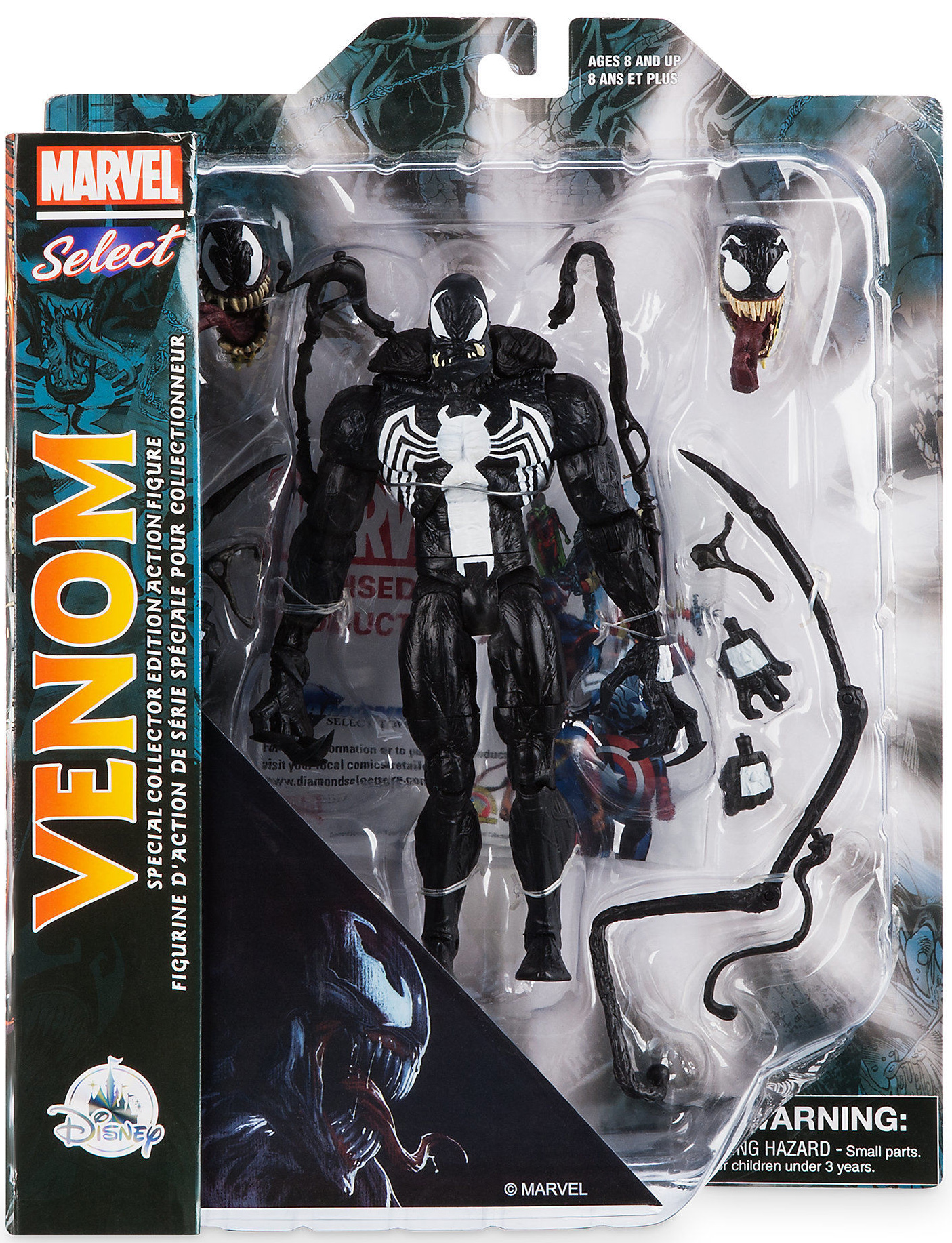 COMIC VERSION Marvel Select ~ VENOM EXCLUSIVE ACTION FIGURE ~ DST Diamond