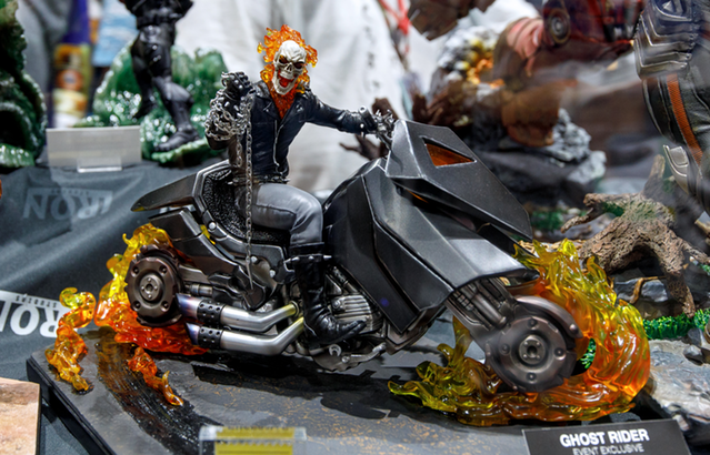 Iron Studios Ghost Rider on Motorcycle Statue SDCC 2018
