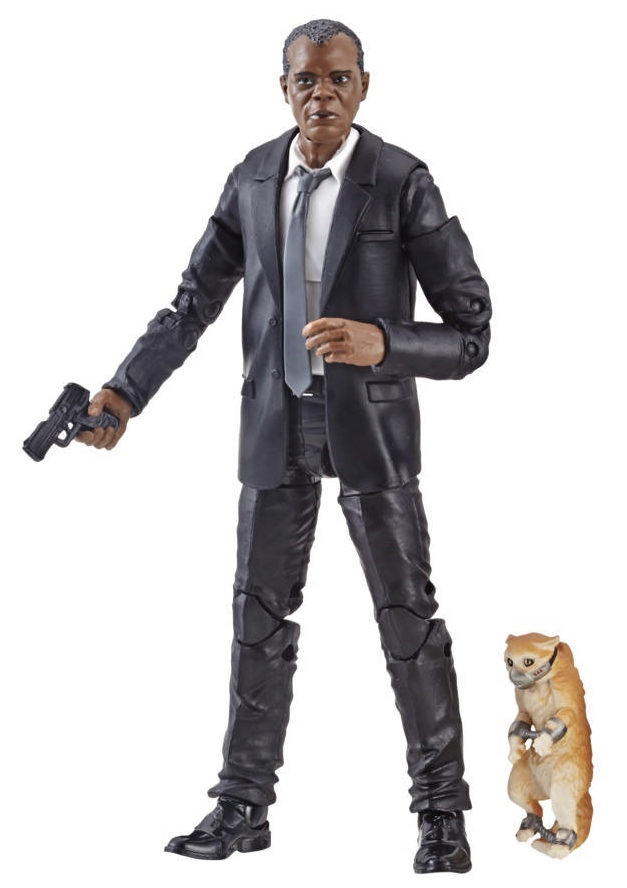 Marvel Legends Captain Marvel Nick Fury with Muzzled Cat
