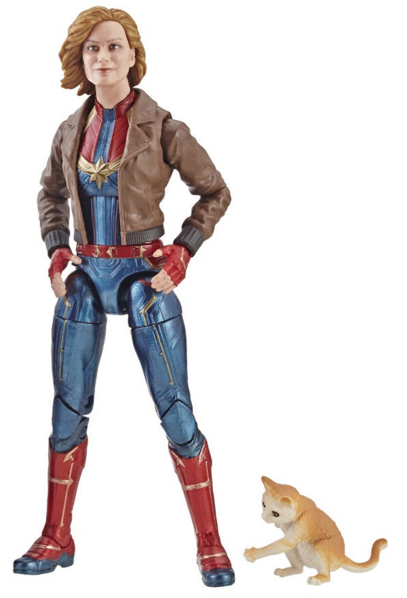 Marvel Legends Captain Marvel with Bomber Jacket and Goose the Cat