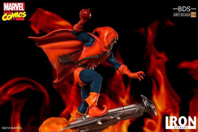 Side View of Iron Studios Marvel Hobgoblin Battle Diorama Series Statue