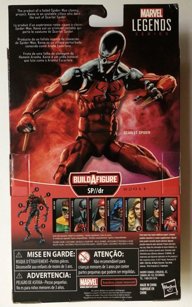Box Back Scarlet Spider Marvel Legends 2018 Figure SP//DR Series Wave