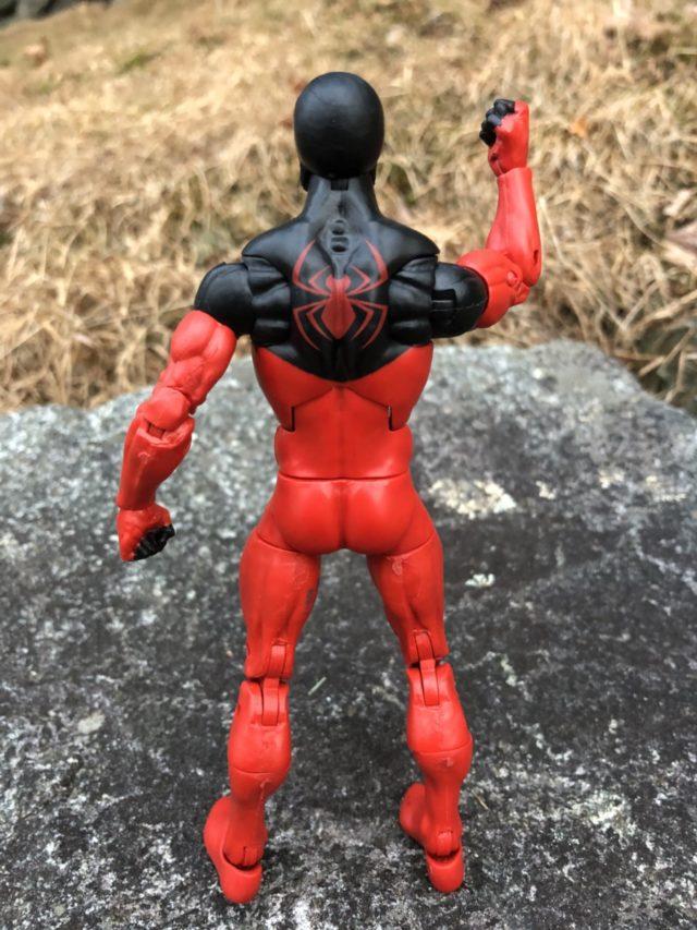 Back of Scarlet Spider Marvel Legends 2018 Figure SP//dr Series