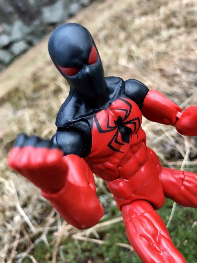 Close-Up of Marvel Legends Scarlet Spider Kaine Figure SPDR Series