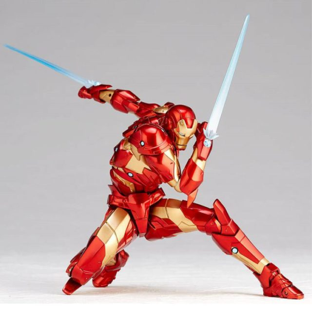 Amazing Yamaguchi Bleeding Edge Iron Man Revoltech Laser Blade Effects