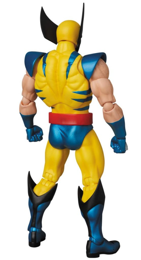 Back of Medicom Toy MAFEX Wolverine Figure