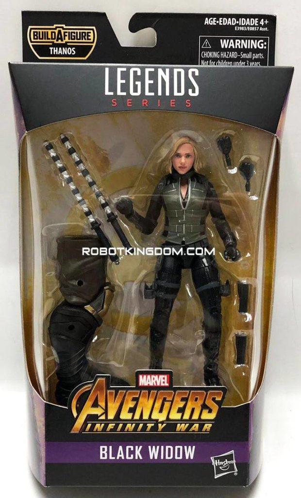 Best of Marvel Legends Infinity War Black Widow Figure Packaged