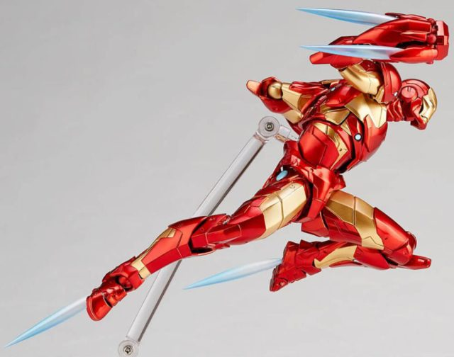 Bleeding Edge Armor Iron Man Kaiyodo Revoltech Figure Rocket Punch