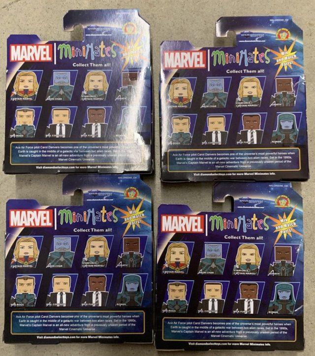 Box Back Minimates Captain Marvel Movie Figures Walgreens Exclusives