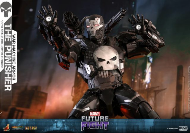 Hot Toys Punisher War Machine Armor Die-Cast Figure Up for