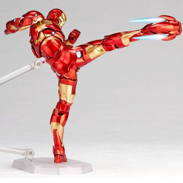 High Kick from Amazing Yamaguchi Revoltech Iron Man Figure