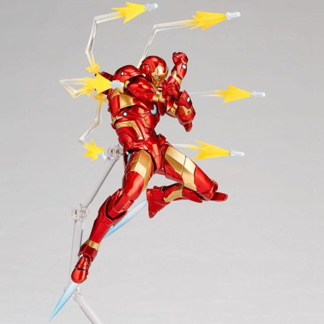 Kaiyodo Iron Man Bleeding Edge Armor Revoltech Missile Effects