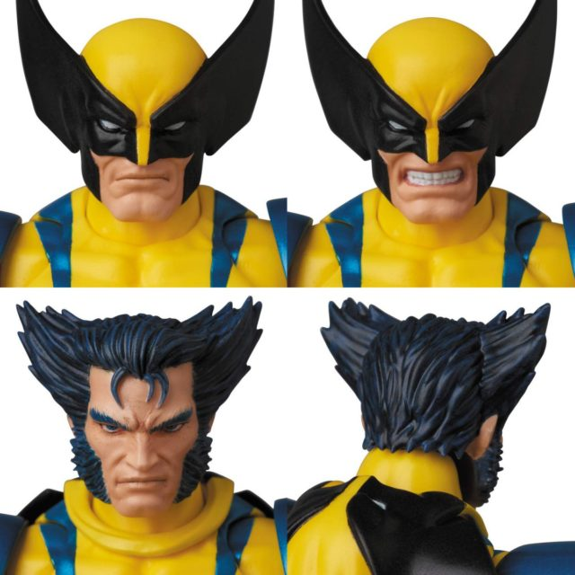MAFEX Wolverine Heads Unmasked Masked Growling Interchangeable