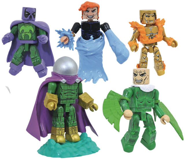 Marvel Minimates Wave 77 Figures Molten Man Prowler Mysterio Vulture Hydro-Man