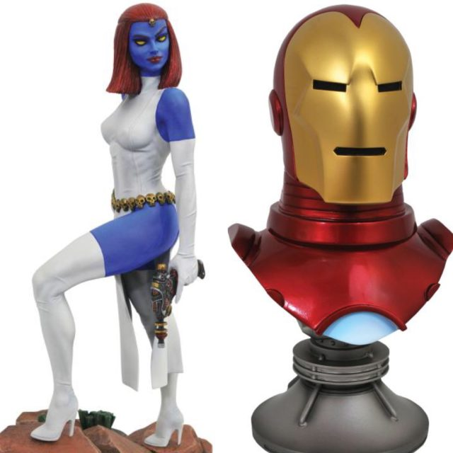 Marvel Premier Collection Mystique and Legends in 3D Iron Man Bust