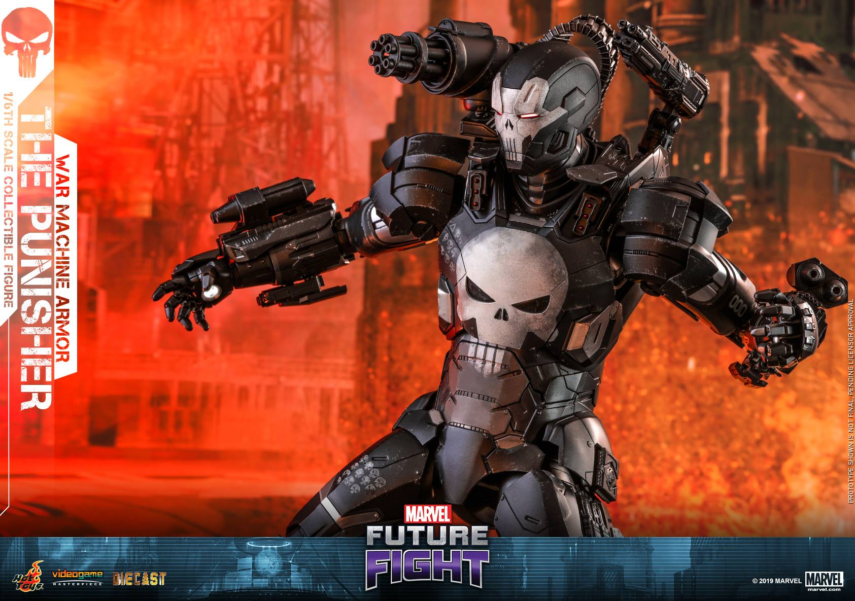 Hot Toys Punisher War Machine Armor Die-Cast Figure Up For ...
