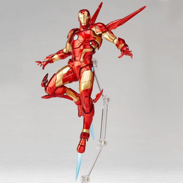 Revoltech Bleeding Edge Armor Iron Man Figure Flying