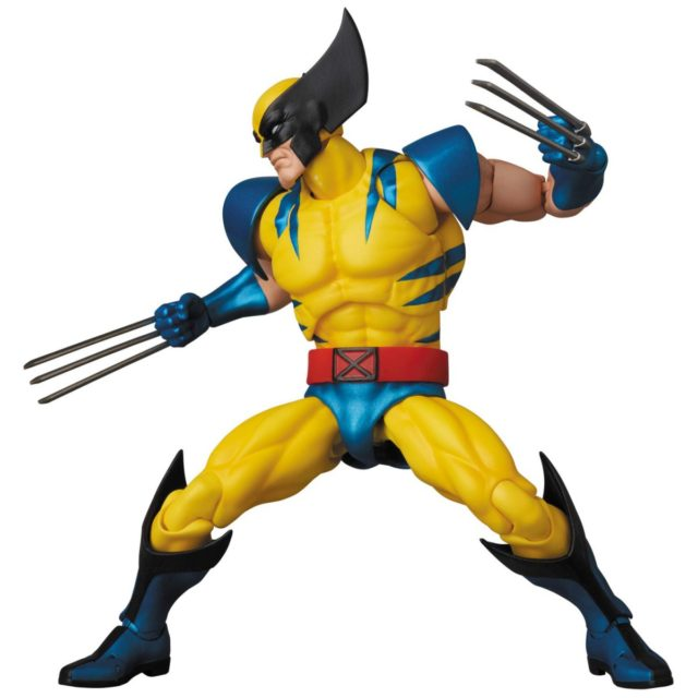Side View of MAFEX Wolverine Six Inch Action Figure