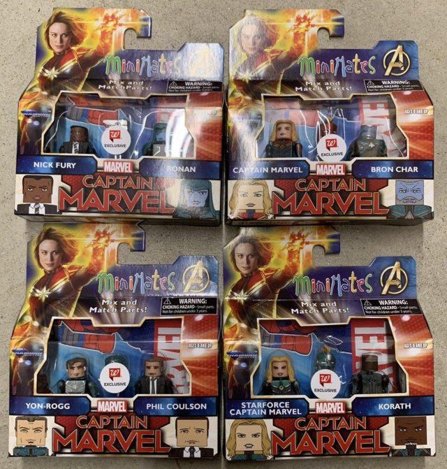 Walgreens Captain Marvel Movie Minimates Series Exclusive Two-Packs