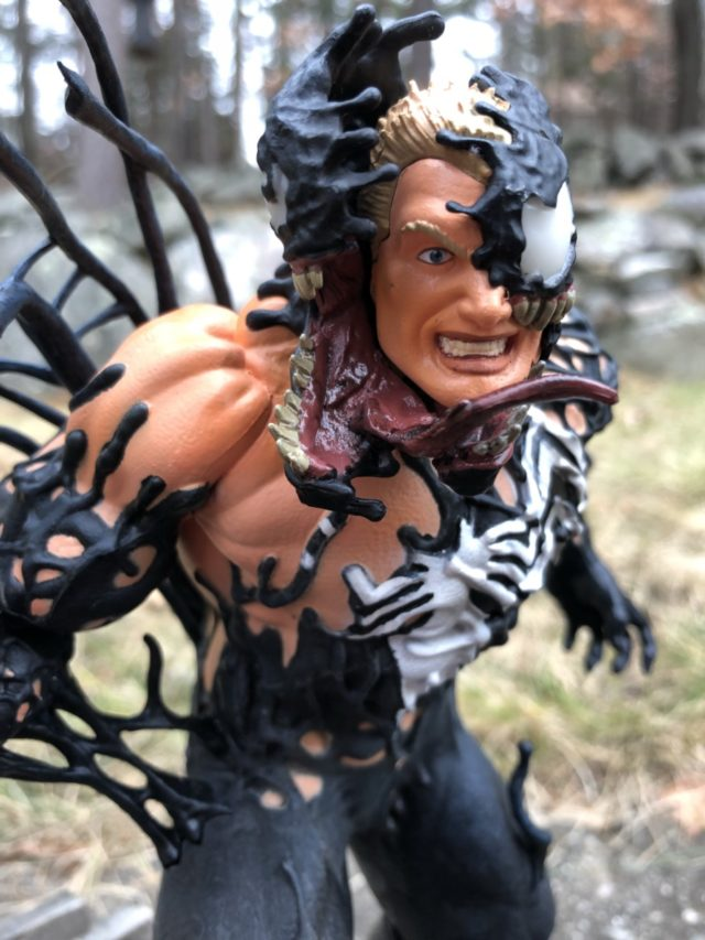 Close-Up of Diamond Select Venom Gallery Eddie Brock Head Portrait