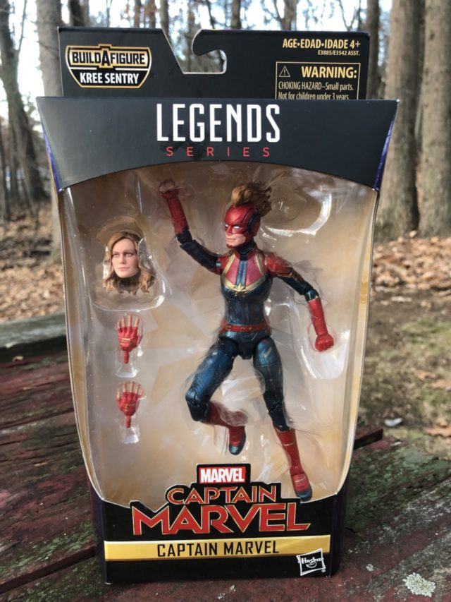 Captain Marvel Movie Marvel Legends Figure Packaged
