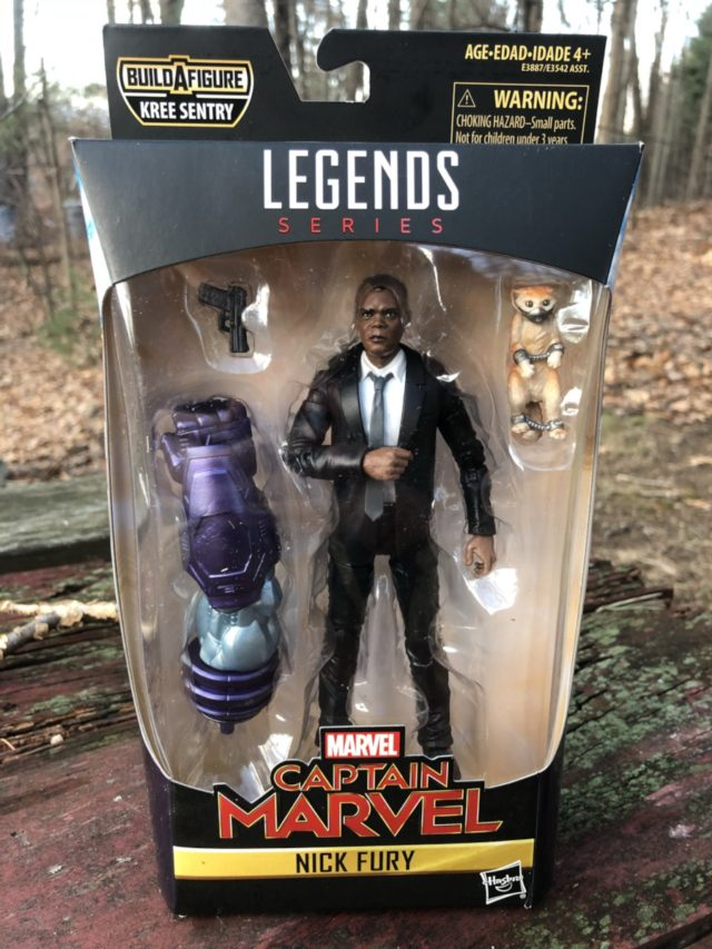 Captain Marvel Legends Nick Fury Figure in Box