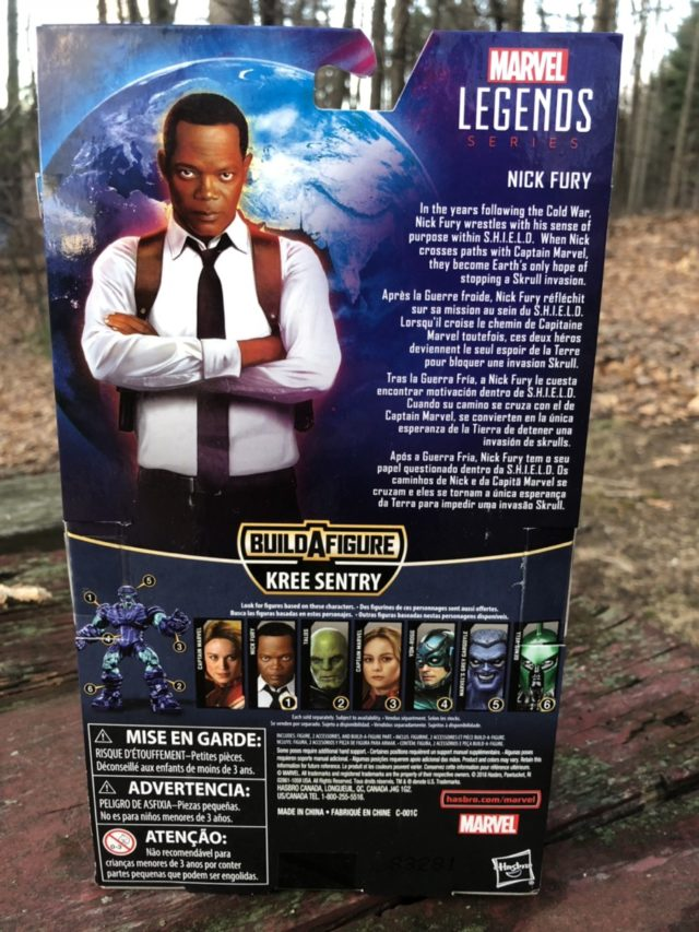 Box Back Nick Fury Captain Marvel Legends Figure